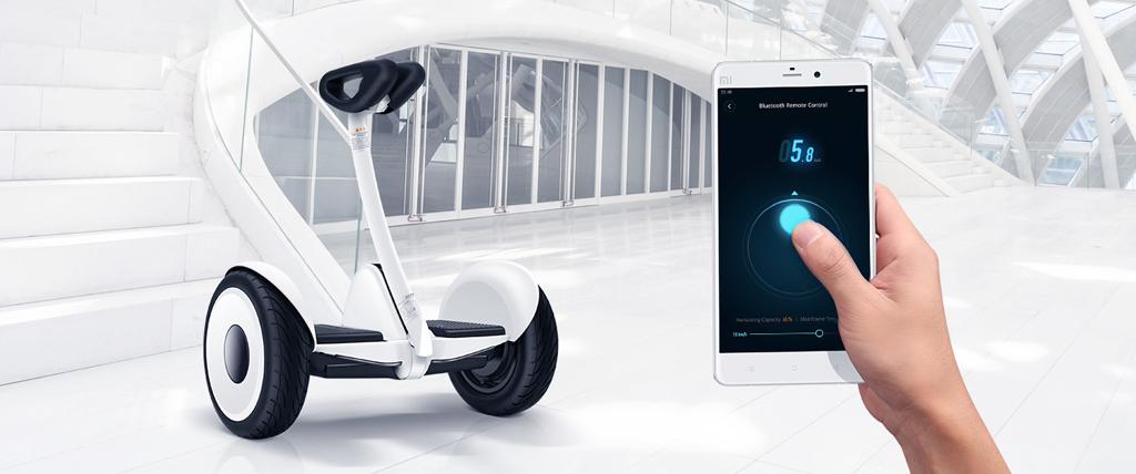 Ninebot con aplicación desde el smartphone